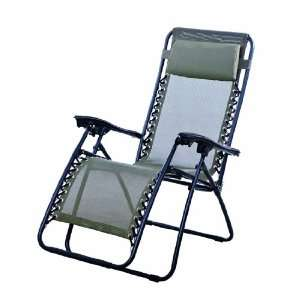 Zero Gravity Recliner Lounge Patio Pool Chair   Brown