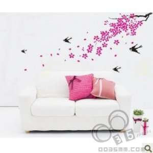 FLOWER WALL PAPER DECAL DECO MURAL STICKER KR 0011