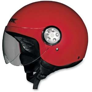 Open Face Motorcycle Helmet Flat Red Small S 0103 0546 Automotive