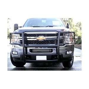 One Piece Grill/Brushguard Black Grille Guards & Bull Bars Stainless