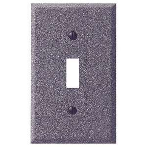 Weathered Iron Steel   1 Cable TV Wallplate Home Improvement