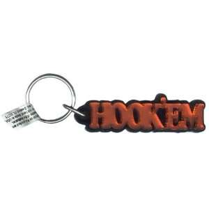 Texas Longhorns Orange HOOKEM Mini Mirror Key Chain W