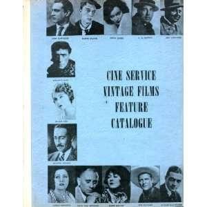 Cine Service Vintage Films October 1971 Newsletter Vol. 1