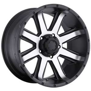 16x8 Machined Black Wheel Ultra Crusher 6x5.5: Automotive