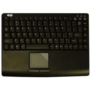 Adesso AKB 410PB Slim Touch Mini Keyboard with Built in