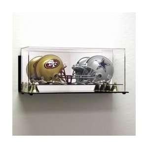 Deluxe Acrylic Double Mini Football Helmet Display Case