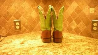 Larry Mahan Square Toe Western Cowboy Boots, sz. 11 D