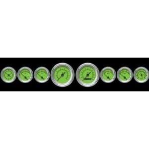 Aurora Instruments 3296 Speedometer Gauge   Rider Series   Green Face