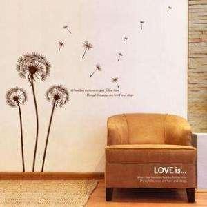 Art Decor Romantic Dandelion Wall Stickers Vinyl