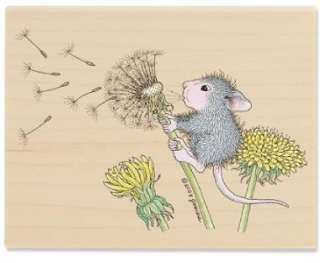 House Mouse Just Dandy + Make a Wish Dandelion Rubber Stamp Lot