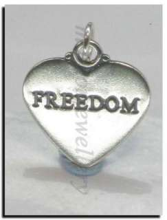 FREEDOM sterling silver charm pendant .925 x 1 SSLP3352