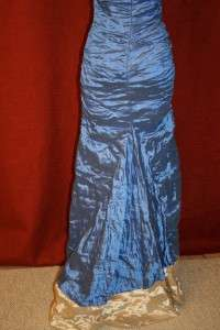 NICOLE MILLER TECHNO METAL GOWN DRESS Sz 2 $630 CR0046