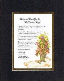 Poem for Thank You   A Special Thank You to My Pastors Wife Poem on