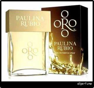 ORO * PAULINA RUBIO 3.4 edp 3.3 oz Perfume New In Box