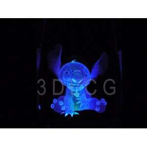 Disney Lilo Stitch 3D Laser Etched Crystal S1 Everything