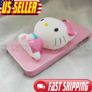 iPhone 4S 4 4G Hello Kitty Pink Hard Case Cover Skin With Retail