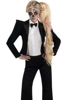 Gaga Born This Way Zombie Skeleton Tuxedo Halloween Costume