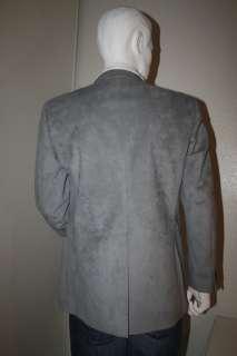 PACO RABANNE Men Suede Suit Blazer Disco COAT Sz 40