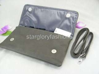Gray Faux Studs & Crystals Purse Clutch Envelope Bag PSC 052711