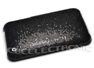 New Black color Bling Glister hard cases cover Skin for iphone 3g 3gs