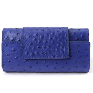 MADE IN KOREA]Womens Genuine leather OSTRICH pattern GABY wristlet
