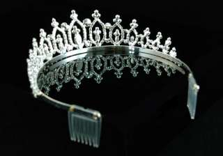 Bridal Wedding Queen Pageant Sparkling Crystal Tiara T1225
