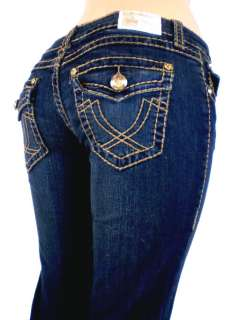 Idol Bootcut Jeans Embroidery Crystal Crown Stretch.17,19, 21