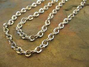14KT White Gold Open Interlocking Links Style Necklace Chain 18 NEW