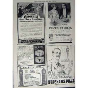 1912 ADVERTISEMENT PEARS SOAP BEECHAMS PIANO CANDLES