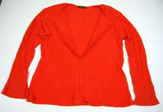 YOHJI YAMAMOTO Ys Orange Rib Zip SWEATER SHIRT LARGE