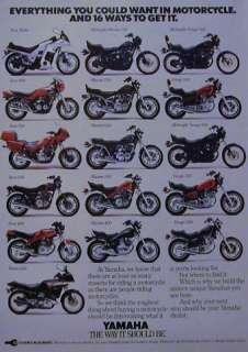 1983 Yamaha Ad Seca Turbo Midnight Maxim Virago Vision 750 920 650 550