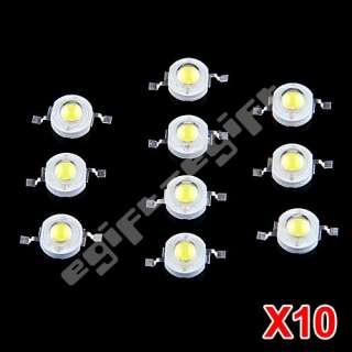 10 1W 1 Watt High Power Pure White Studio LED Light Lamp Bulb Bead