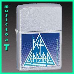 DEF LEPPARD ZIPPO LIGHTER   SATIN CHROME