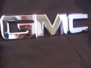 GMC CHROME BILLET FRONT GRILLE EMBLEM YUKON ENVOY SIERRA ACADIA