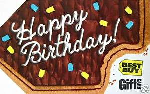 BEST BUY Gift Card Happy Birthday COLLECTIBLE NO VALUE 2011