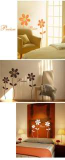 Set of 3 Daisy Flower Vinyl Wall Art Sticker Decal Decoration Bedroom