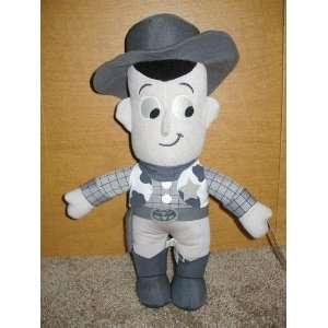 Toy Story Unique 14 Plush Monochrome Cowboy Woody Doll Toys & Games