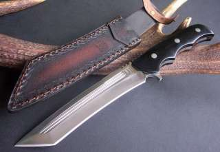 Sharp Large Heavy Full Tang Micarta Handle Jungle Camp Bowie Hunting