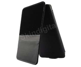 For Nook Tablet / Nook Color Black GENUINE LEATHER Case Cover Flip