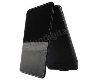 For Nook Tablet / Nook Color Black GENUINE LEATHER Case Cover Flip