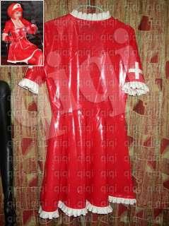 Latex (rubber) Nurse Dress  0.45mm suit catsuit unique