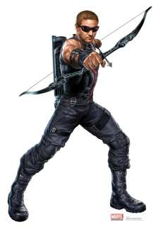 AVENGERS 2012 MOVIE HAWKEYE LIFESIZE STANDEE STAND UP LICENSED 1184