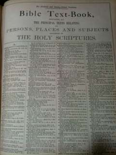 ANTIQUE FAMILY HOLY BIBLE CLASP UNMARKED COLOR PLATES 1895 LARGE