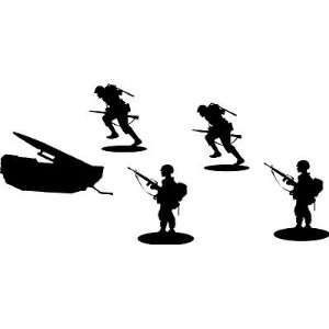 Mititary Scenery Wall Art Vinyl Decal Kit Missle Army Men Huge Easy To