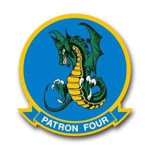 US Navy Patron Four Squadron Decal Sticker 3.8 6 Pack
