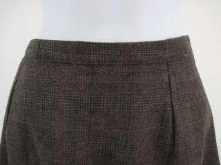 AUGUSTUS Brown Gray Tweed Blazer Jacket Skirt Suit Sz 6
