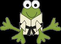 KARATE FROG FROGGY BABY BOY NURSERY WALL STICKERS DECAL