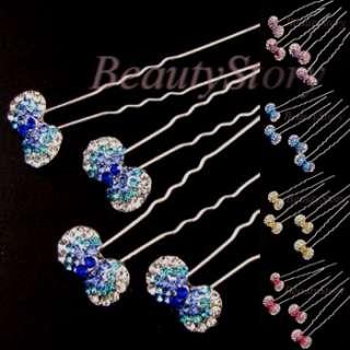 ADDL Item  Austrian rhinestone crystal bow tie knot hair