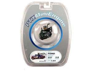 PTX Mini Engine   Ford V8 Flat Head Engine 124 G scale Green # 28001M