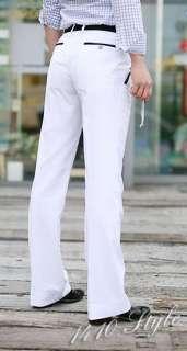 Mens 2011 NEW Korean Fashion Slim Fit White Pants 2820